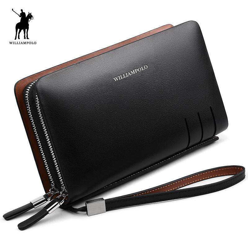 6b0602bd22 Zzooi Williampolo 2018 Fashion Business Design High Capacity Organizer Wallet  Men Clutch Wallet Genuine Leather Wallet