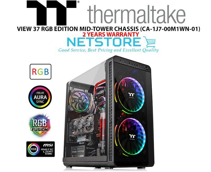 THERMALTAKE VIEW 37 RGB EDITION MID-TOWER CHASSIS RIING PLUS FAN CASING CA-1J7-00M1WN-01 Malaysia