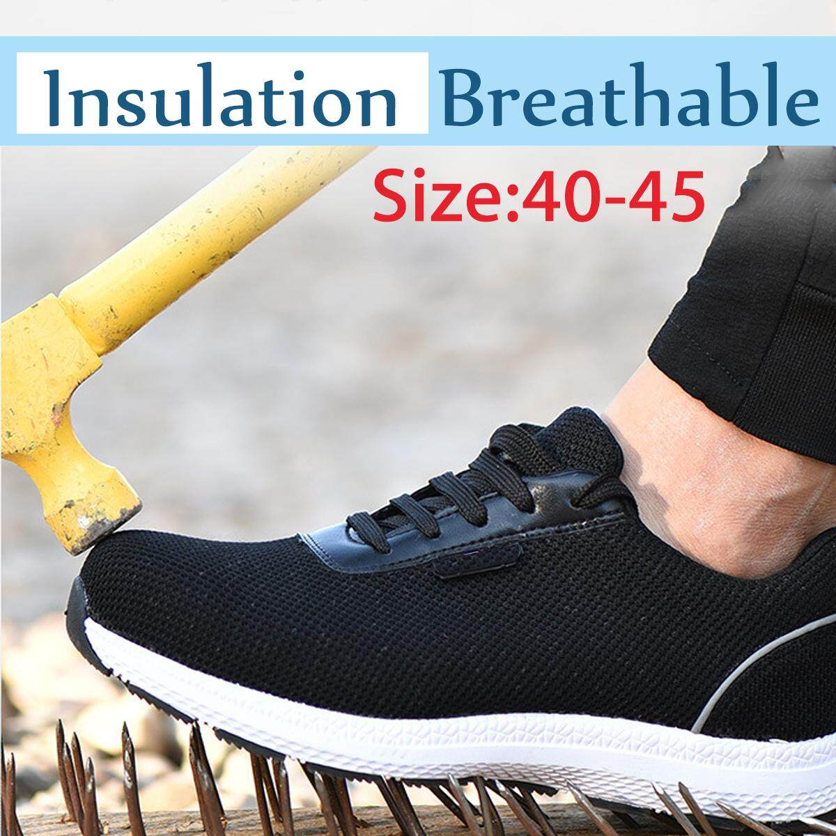 Mens Men Safety Work Shoes Steel Toe Cap Breathable Hiking Climbing Boots Hiker