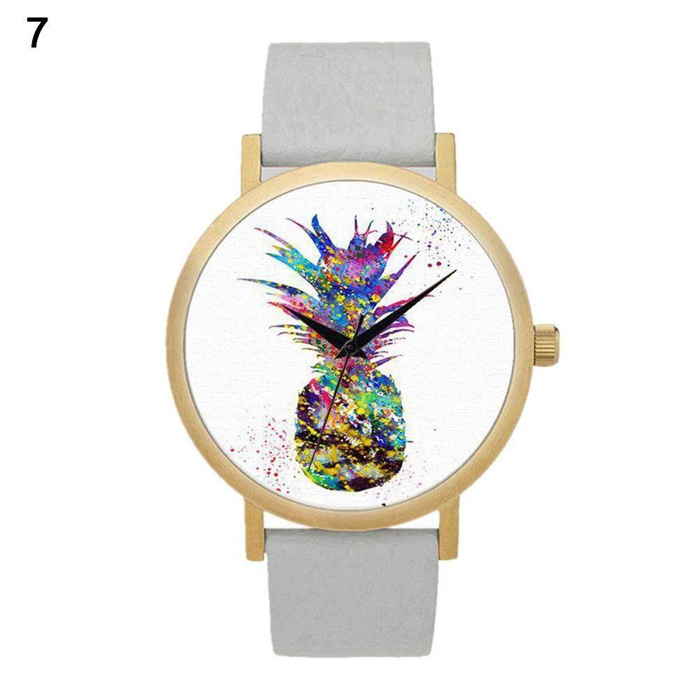 BODHI Fashion Pineapple Faux Leather Quartz Wrist Watch Women Bracelet Party Gift (1#) Malaysia