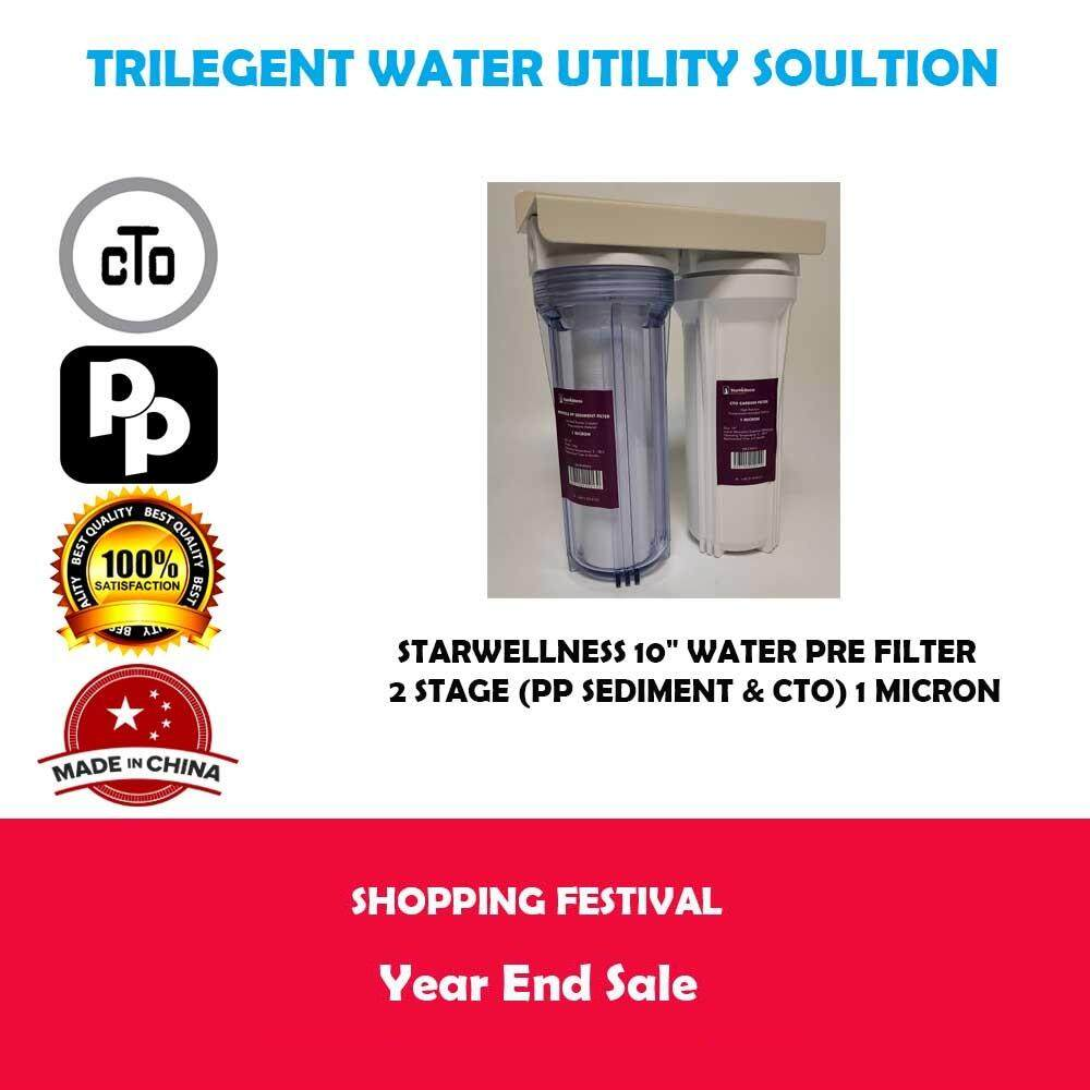 "Starwellness 10"" Water PRE Filter - 2 Stage (PP Sediment ."