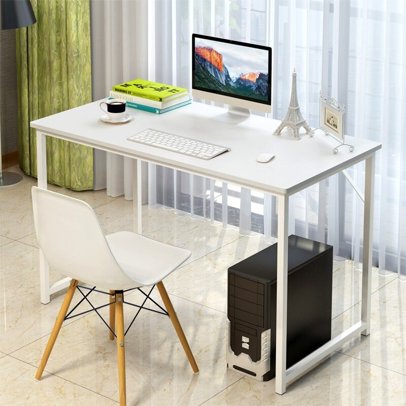 Fantastic Gte Simple Home Living Wooden Desktop Laptop Desk Home Office Table Study Desk Study Table With Steel Leg 120Cm X 55Cm 3 Colors Available Home Remodeling Inspirations Cosmcuboardxyz