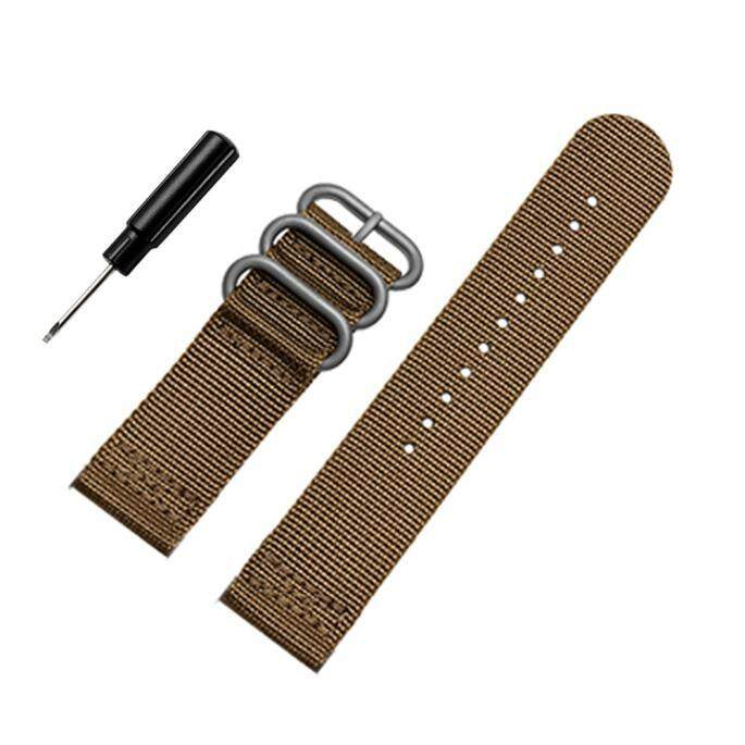 Bigskyie Luxury Nylon Replacement Watch Wrist Band 3 Ring Lugs For Suunto Core Brown Malaysia