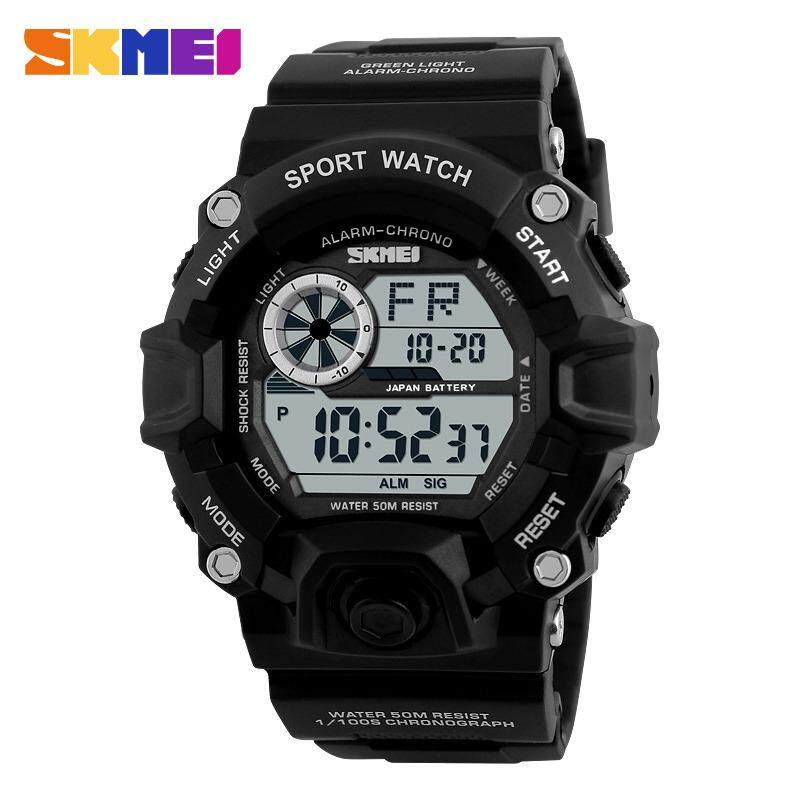 Ready Stock Military Sports Watches Men Calender Alarm 50M Waterproof Watch LED Back Light Shock Digital Wristwatches 1019 S Sport Malaysia