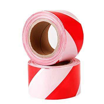 BARRICADE TAPE RED WHITE (48MM X 40M)