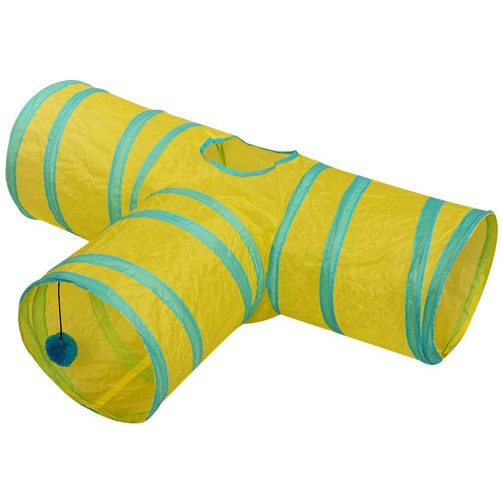 3/4 Holes Foldabe Pet Cat Tunnel Indoor Outdoor Pet Cats Training Toys Play Tunnel Tubes By Wangwang Store.