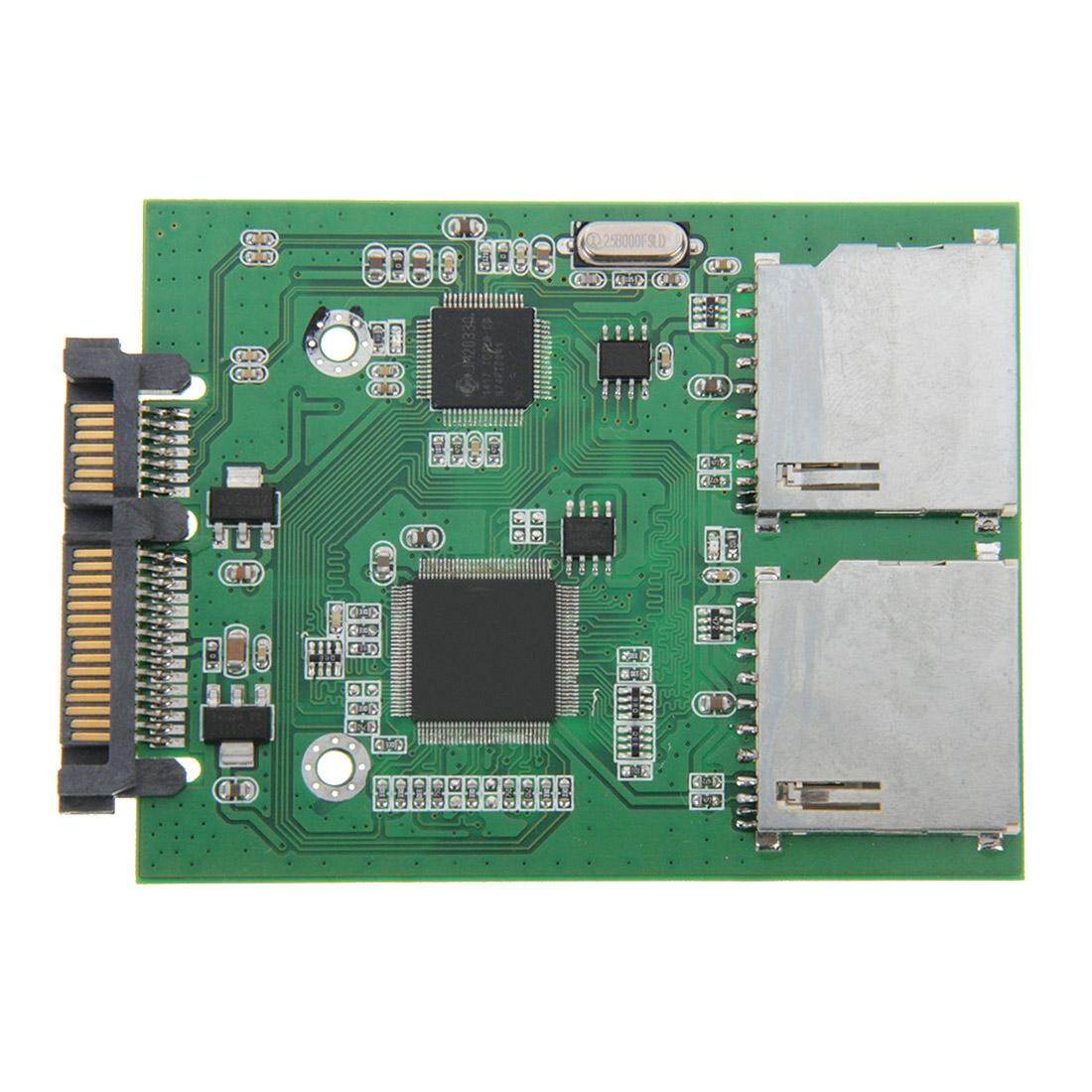 Dual SD Card To 22 Pin SATA Adapter Converter Card Malaysia