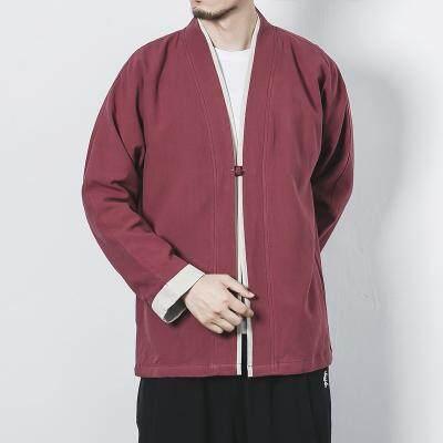 8939a8c67 2018 Embroidery Japanese Harajuku Kimono Linen Shirt Men Swag Fashion Retro  Origin Tops Classic Chinese Style