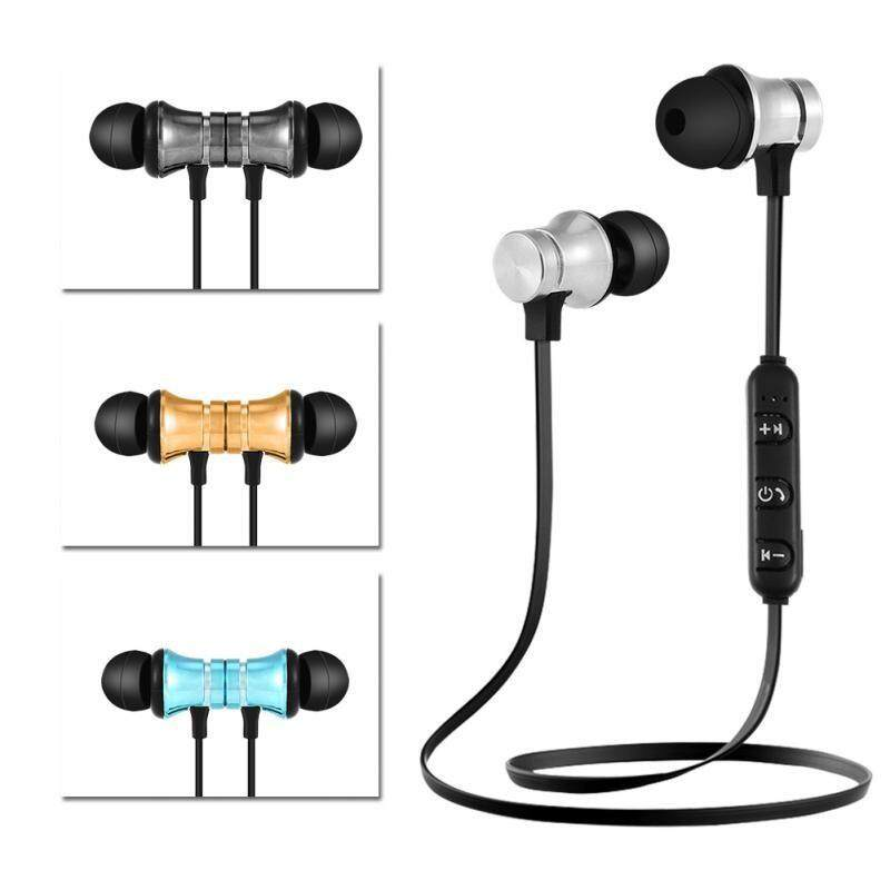 Bluetooth 4.1 Headset Stereo Earbuds Earphone Wireless Sports Headphones (MAGNET)