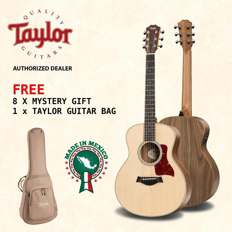 TAYLOR Acoustic Guitar GS Mini-E Walnut with Pickup + FREE Taylor Guitar Bag + FREE 8 Mystery Gifts Malaysia