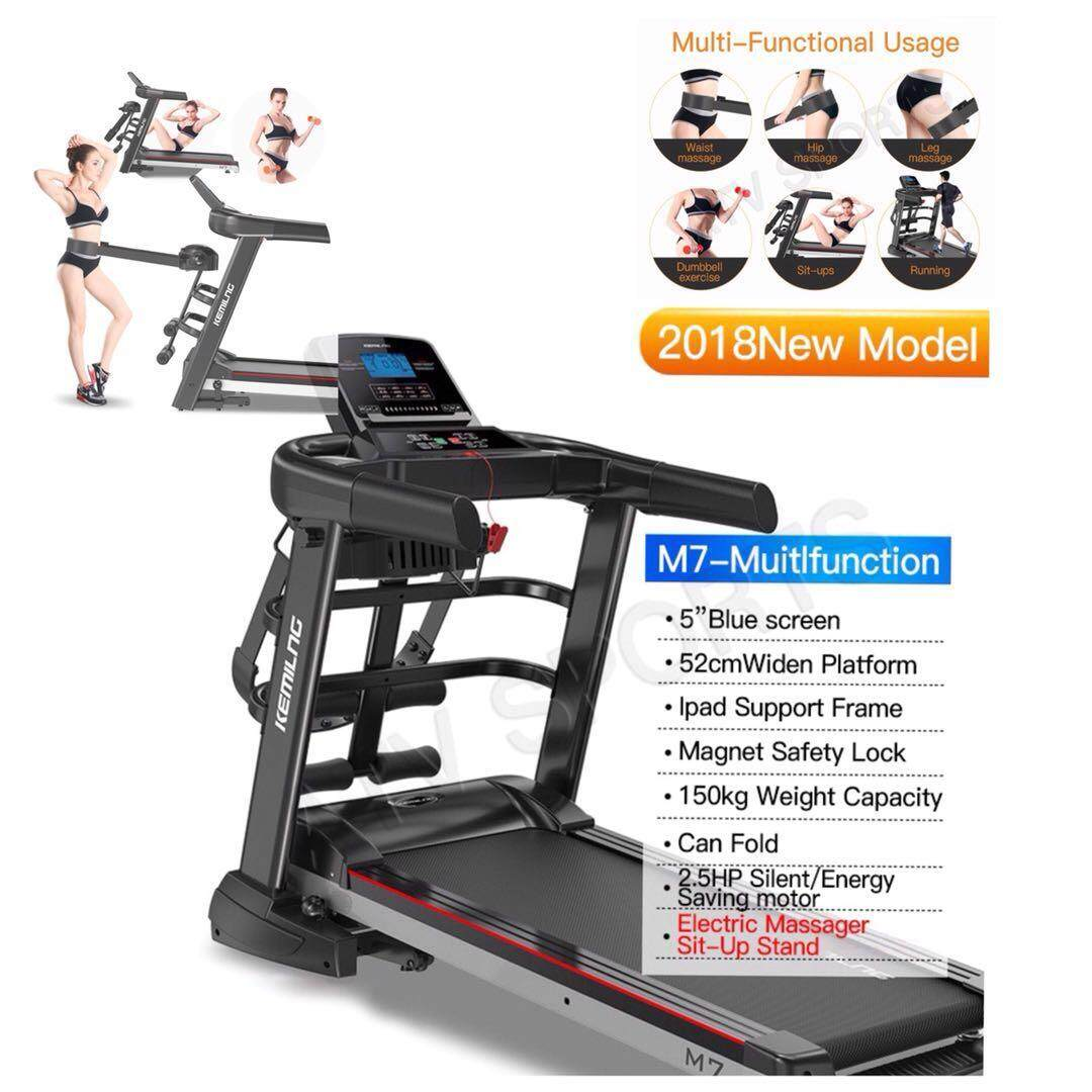 Stock Now Kemilng Multifunction Treadmill Can Folded Mp3-1 Year Warranty M7 By Atv Sports And Style Sdn Bhd.
