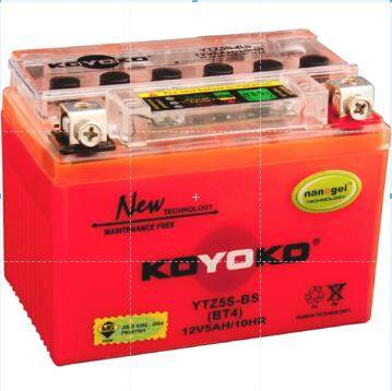 Koyoko Battery • (ytz5s-Bs)honda W.100r/w.110/w.125/w.125s/w.125x/dash110/future By K.k Motorspareparts.