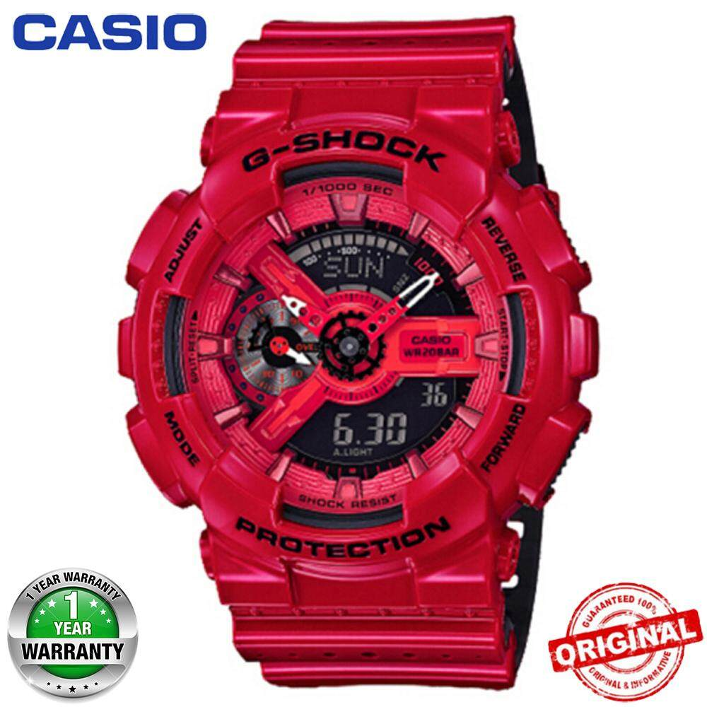 G-Shock Duo W/Time 200M Water Resistant World Time Sports Watch LED Auto Light for Men GA-110LPA-4A Malaysia