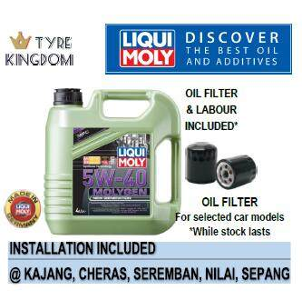 Engine Oil Service Package Liqui Moly New Generation Molygen Fully Synthetic 5w40 4l (with Installation) By Tyre Kingdom.