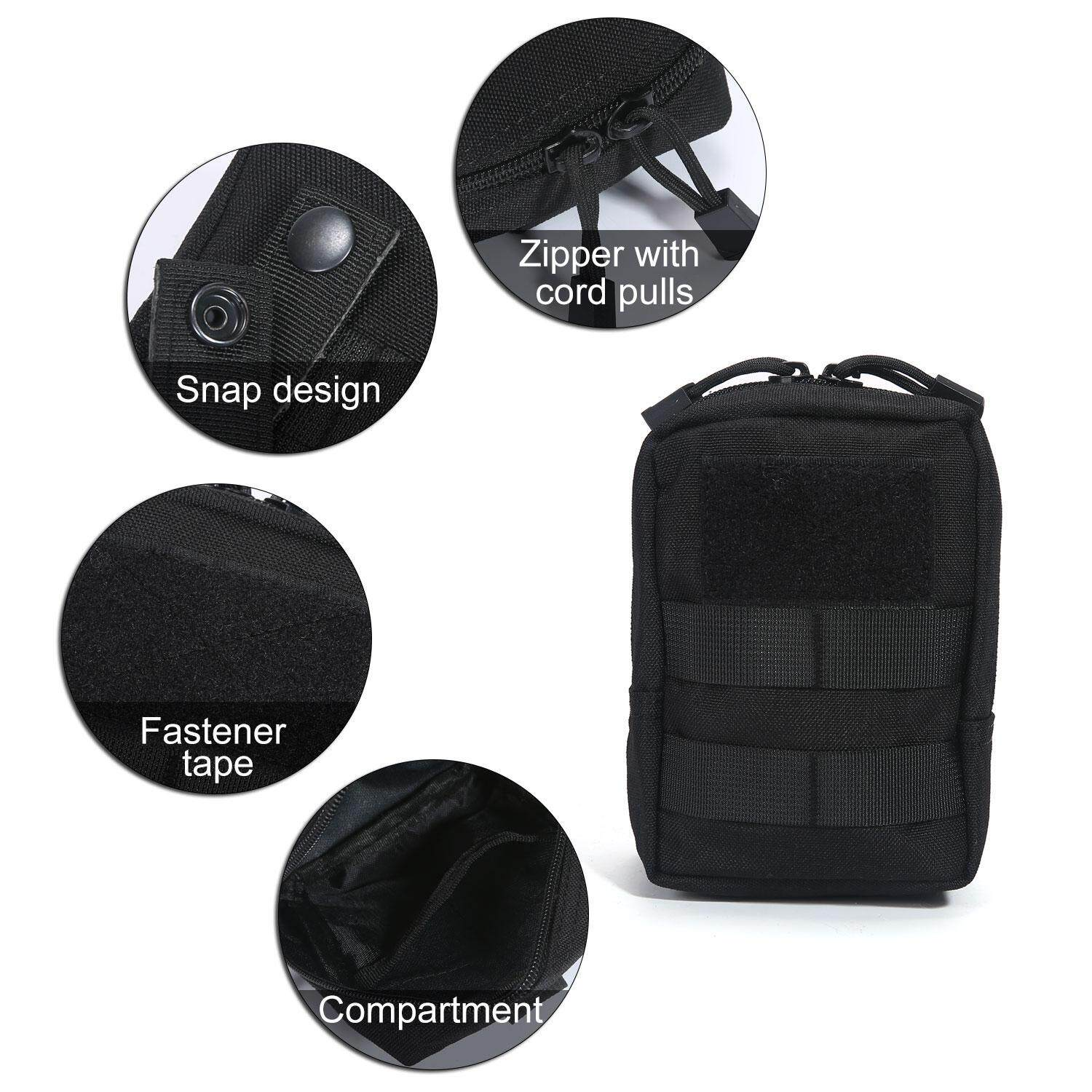 Layopo Tactical Admin Pouch Compact Edc Utility Gadget Gear Pouch Military Carry Accessory Belt Hanging Waist Bag By Layopo.