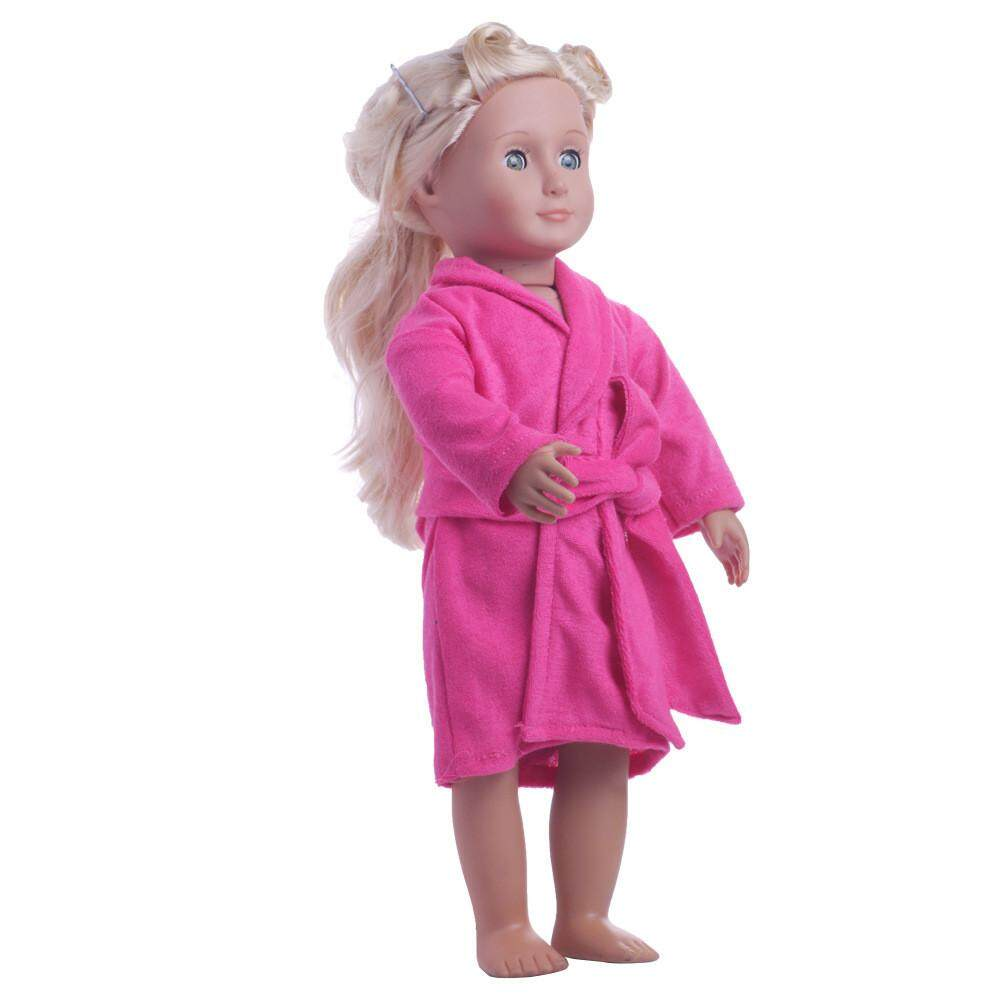 【free Shipping】cute Soft Robe Dolls Robe Fit For 18 Inch Our Generation American Girl Doll Aitao By Aitaostore.