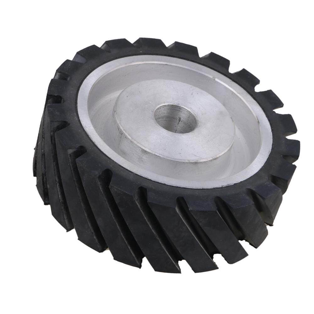 150 x 50mm Rubber Serrated Belt Grinder Wheel for Bearings Belt Grinder