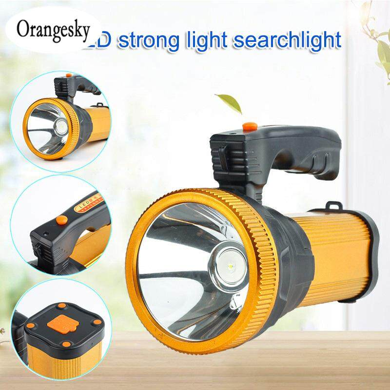 Orangesky Led Rechargeable Flashlight Super Bright Searchlight Handheld Portable Spotlight By Orangesky.