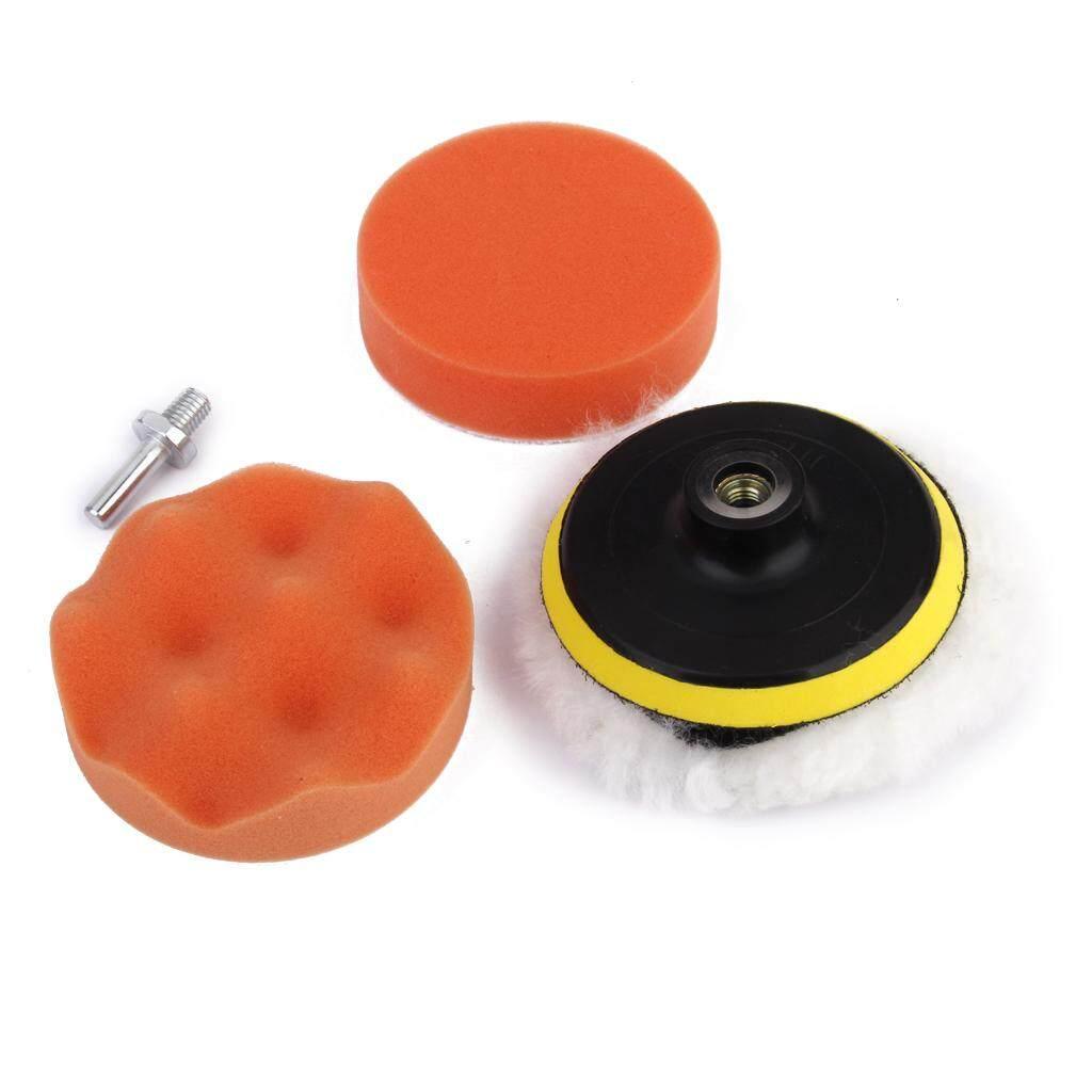 MagiDeal 5pcs 4 inch Drill Thread Sucker Wool Cleaning Polishing Sponge Buffing Pad