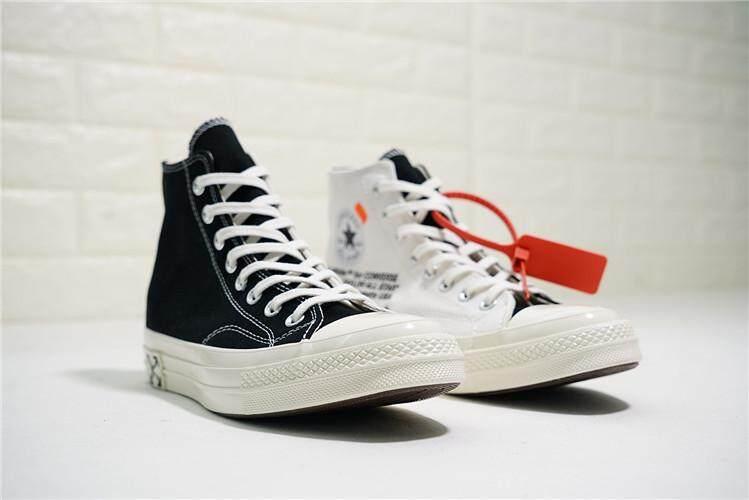 Converse Original Women s Skateboarding Shoes OFF White x Chuck 1970S 2.0  High Top Discounted ( White e143136c4d15