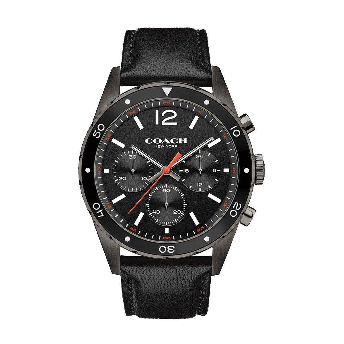 Coach Coach Sullivan Chronograph Black Stainless-Steel Case Leather Strap Mens 14602039 Malaysia