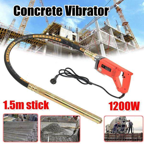 800W/1200W/1560W Concrete Vibrators Electric Cement Soil Mixer with  3/4 HP- Heavy Duty Remove Air Bubbles & Level 5000 VPM