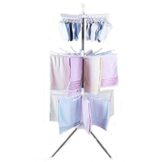 Nava Stainless Steel Indoor 3 Tier Light Clothes Drying Rack Clothes Hanger Rack Ampaian Baju By Nava.