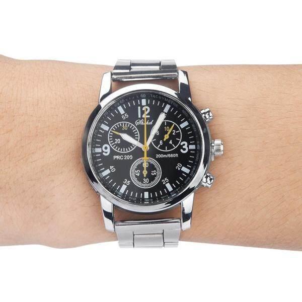 World Deal-Fashion Neutral Quartz Analog Wristwatch Steel Band Watch Malaysia