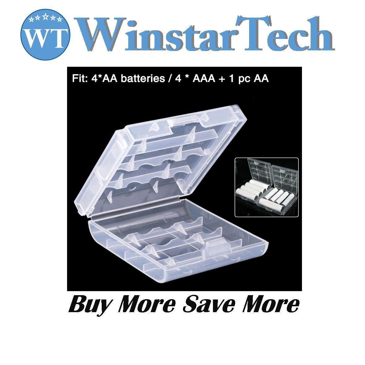 2A 3A Battery Case Clear Box Holder 2AA/ 3AAA Cell Battery Storage Box