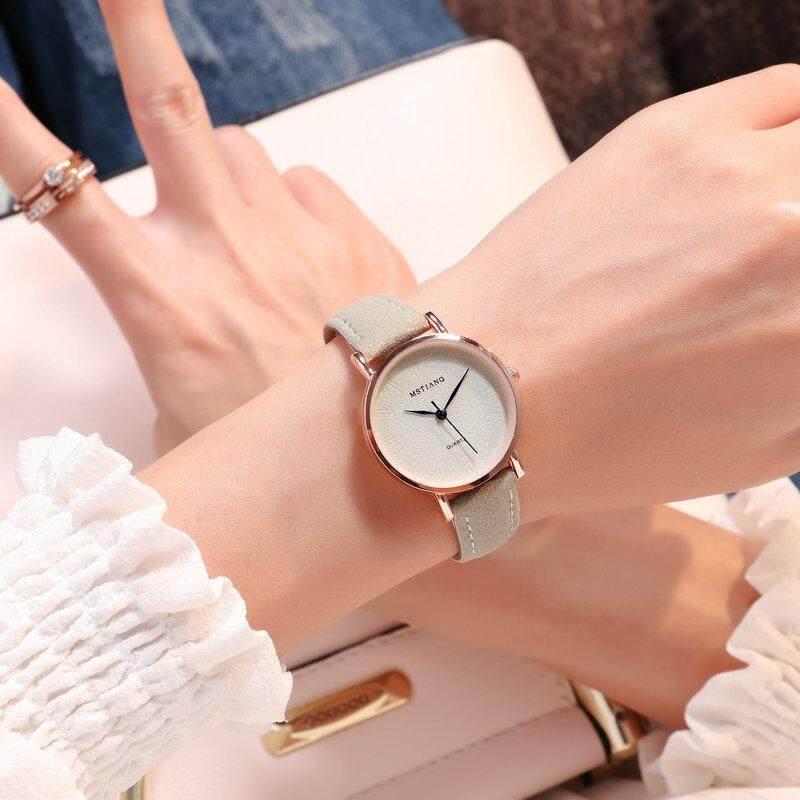 Tanoshiis Picks Korean Design Women Luxury Leather Watch 003_Dark Green Malaysia