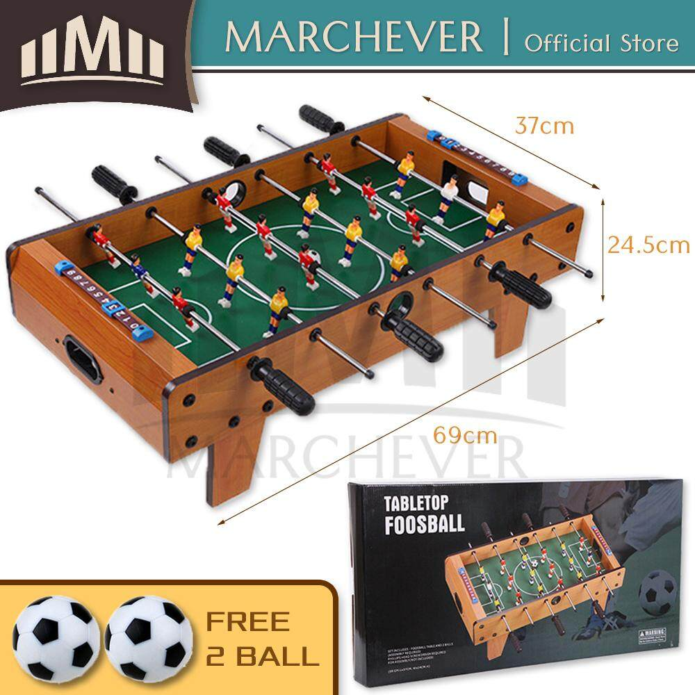 Wooden Soccer Table Game Foosball Tabletop Football Indoor Kids Family Baby Toy