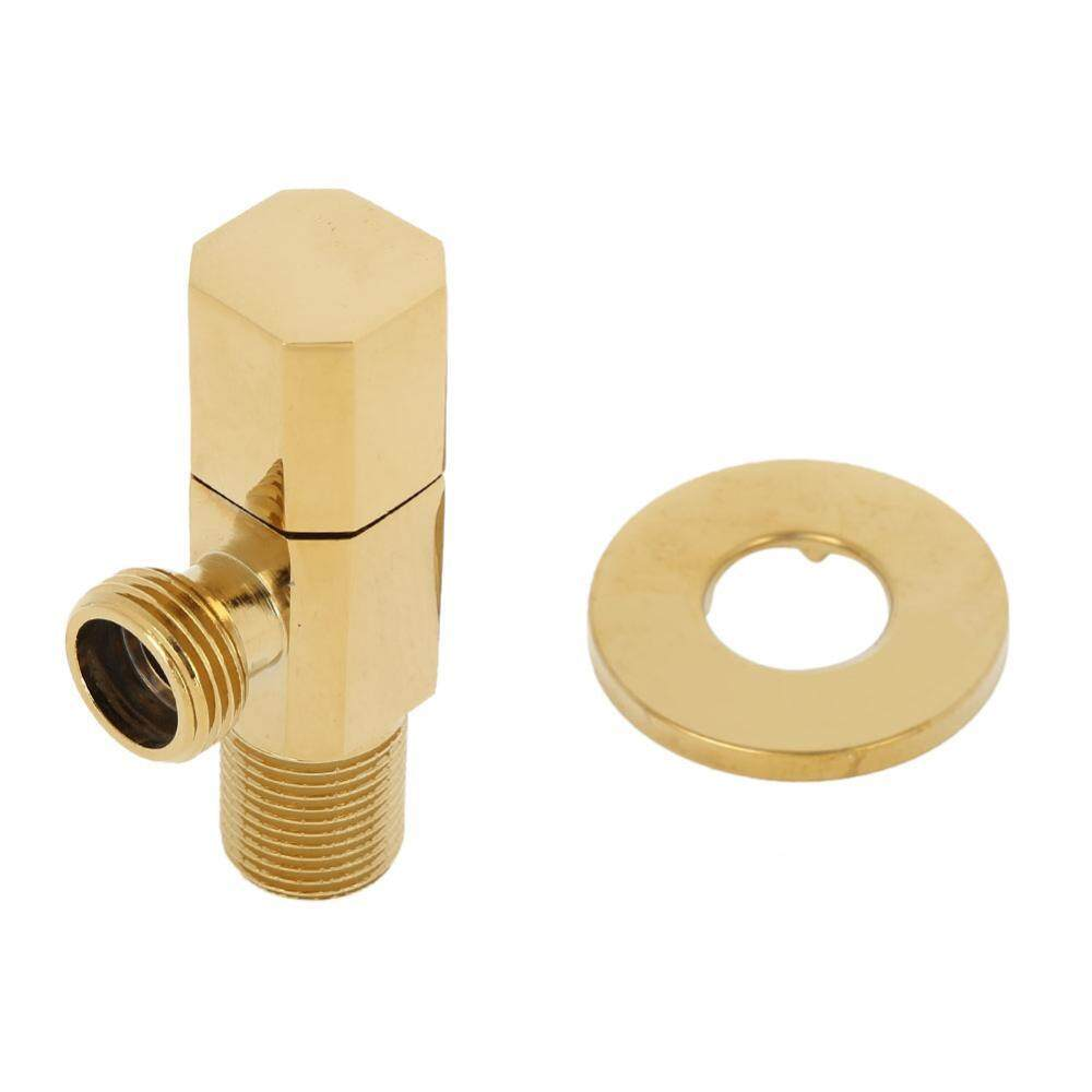 Brass Hot/Cold Water Shut Off Faucet Angle Valve Bathroom Toilet Mixer Tap Shower Accessory