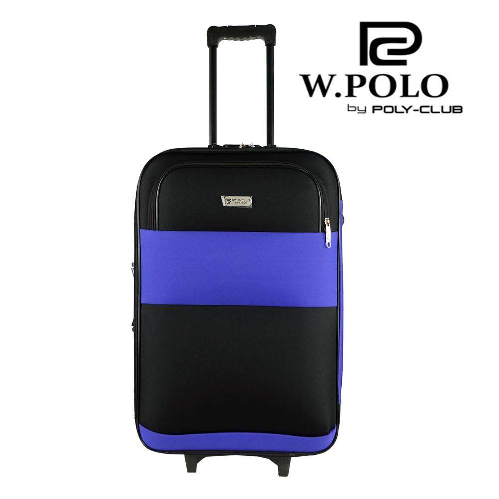 W.Polo BE9819 24inch 2W EVA Softcase Luggage with Middle Roller -  Violet Black bf3a63e64fd34