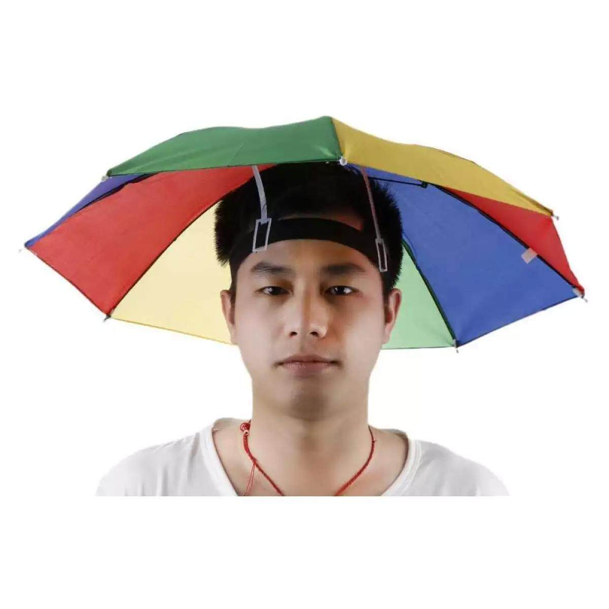 Outdoor Foldable Sun Umbrella Hat Golf Fish Camp Headwear Cap Head Hats Shade(multiple Colour) By Cenblue.