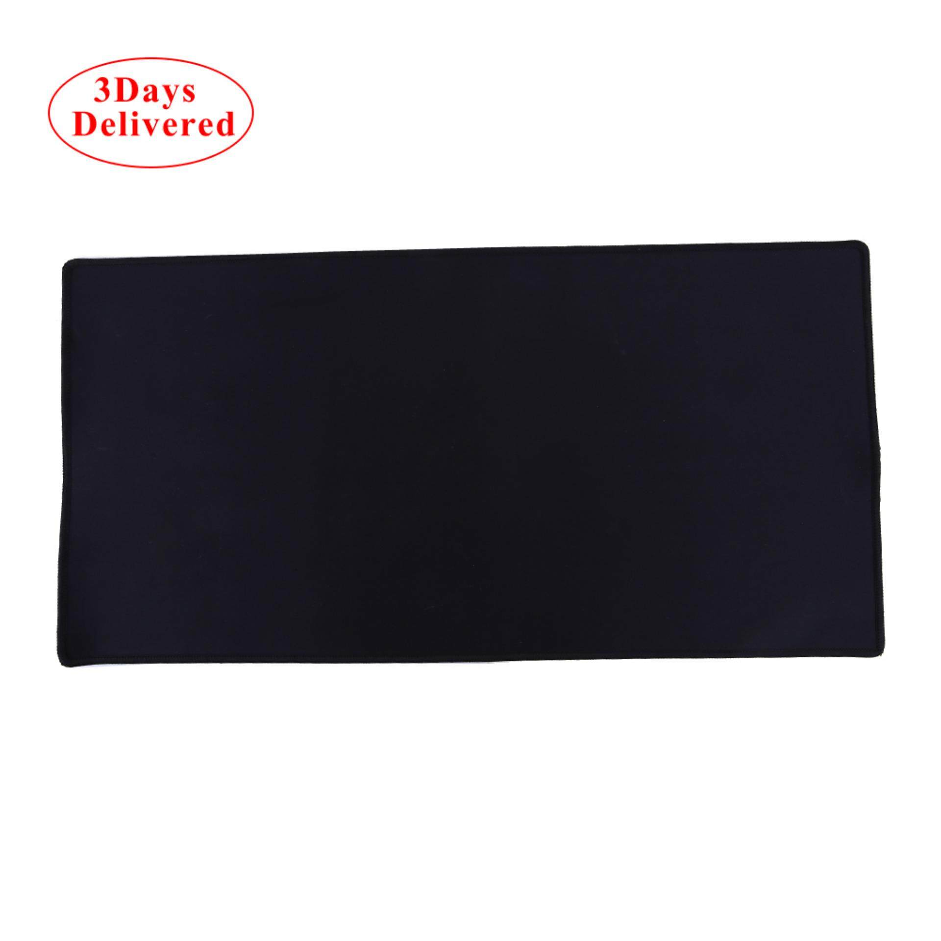 Fast Delivered within 3 DAYS + Free Shipping Large Gaming Mouse Pad 60 x 30CM Computer Rubber Pro Keyboard Mats (Black) (MY) Malaysia
