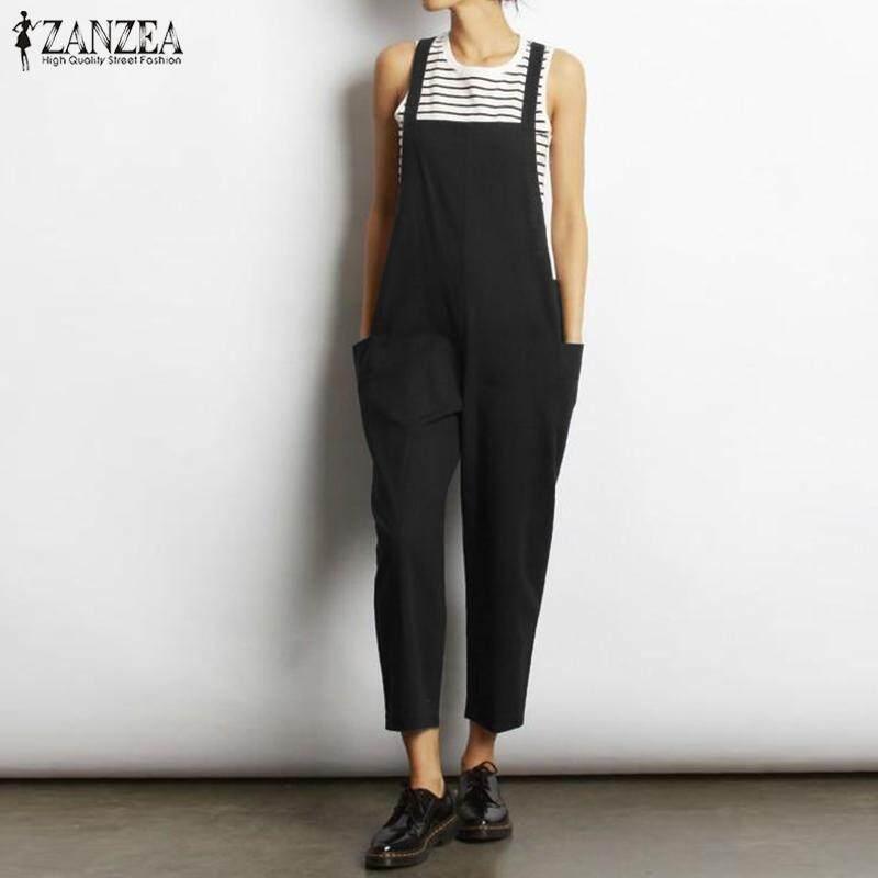 3a41da27ca0 ZANZEA Women Loose Bib Trousers Pants Dungarees Jumpsuit Plus Size Overalls