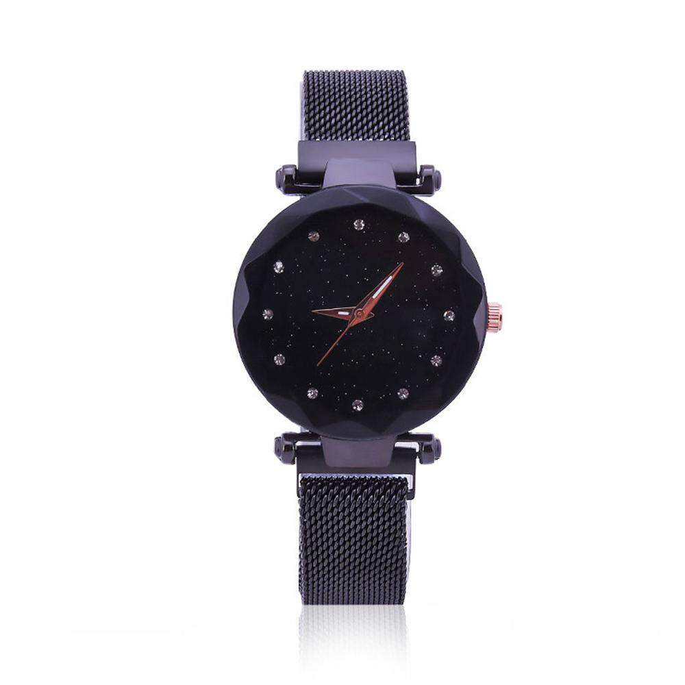 Kacoo Womens Fashion Wrist Watches,waterproof Casual Crystal Quartz Star Dial Bracelet Watch Stainless Steel Mesh Belt With Unique Magnet Lock, No Buckle By Kacoo.
