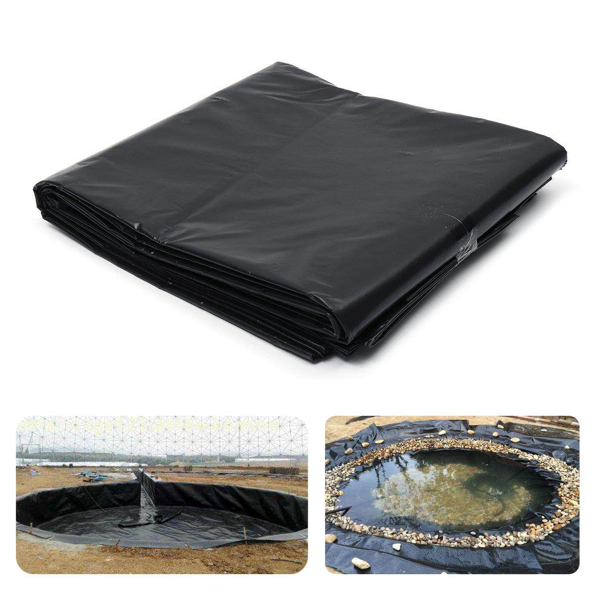 HDPE Fish Pool Pond Liner Membrane Reinforced Gardens Pools Landscaping Black 1.5mx1.5m