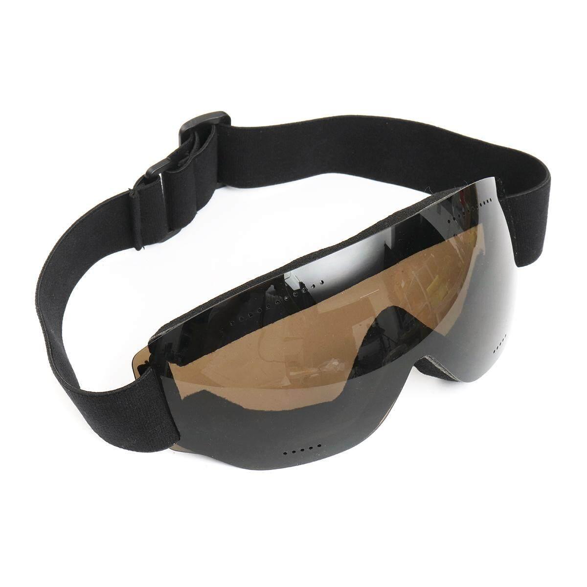 Frameless Anti-fog UV Protection Ski Glasses Skiing Goggles Snowboard Unisex Brown