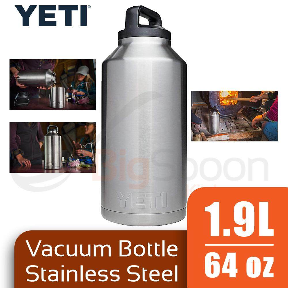 68a87a99a27 YETI Rambler Vacuum Bottle 1.9L Stainless Steel Double Wall Insulated  Leak-Proof Rust-