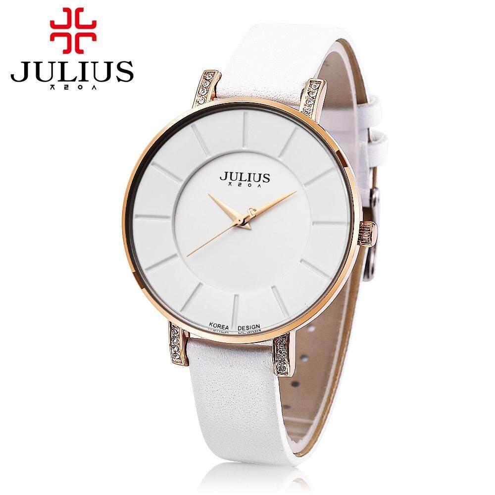 MYR 65. JULIUS JA - 766M Unisex Quartz Watch Japan Movt Genuine Leather Strap 3ATM WristwatchMYR65