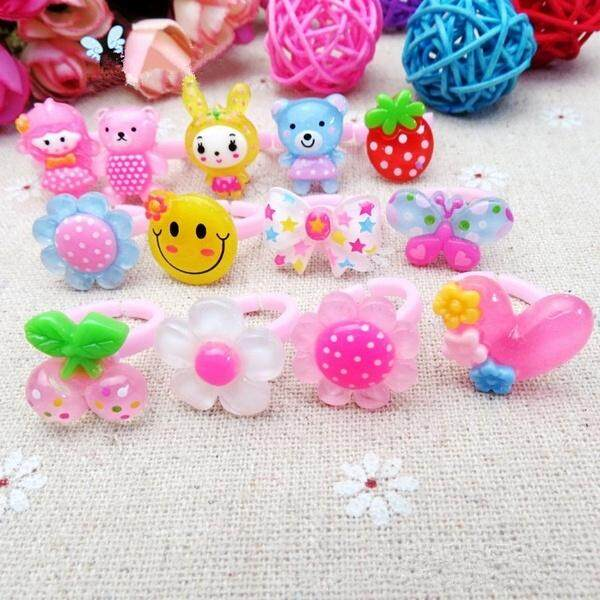 Fang Fang 10pcs/set Wholesale Mixed Lots Cute Cartoon Children/kids Resin Lucite Rings Jewelry By Fangfang_719.