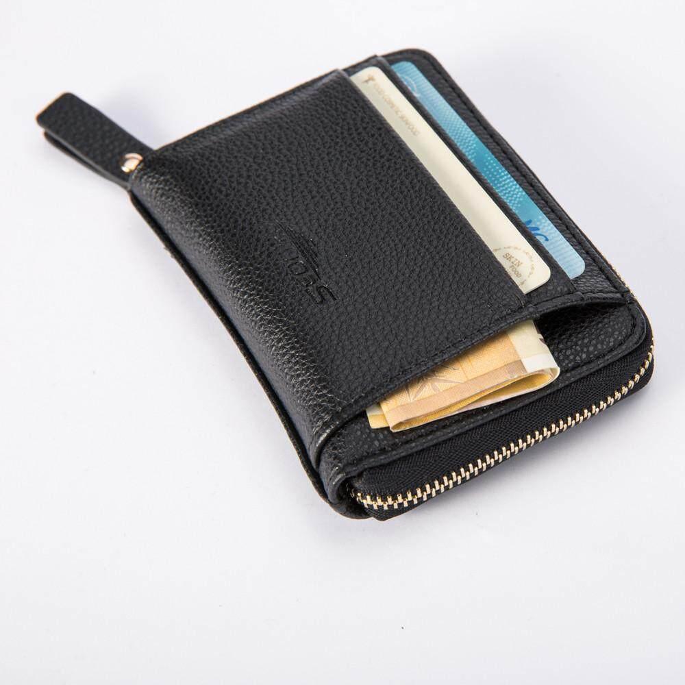 5725bb678ef1 Teresastore Leather Men Business Wallet Vintage Purse High Quality ID  Credit Card Pockets BK
