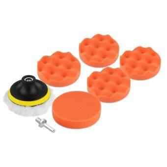 ELEC 8pcs 4''Polishing Sponge Pad M10 Drill Adapter Kit For Car Auto Polisher