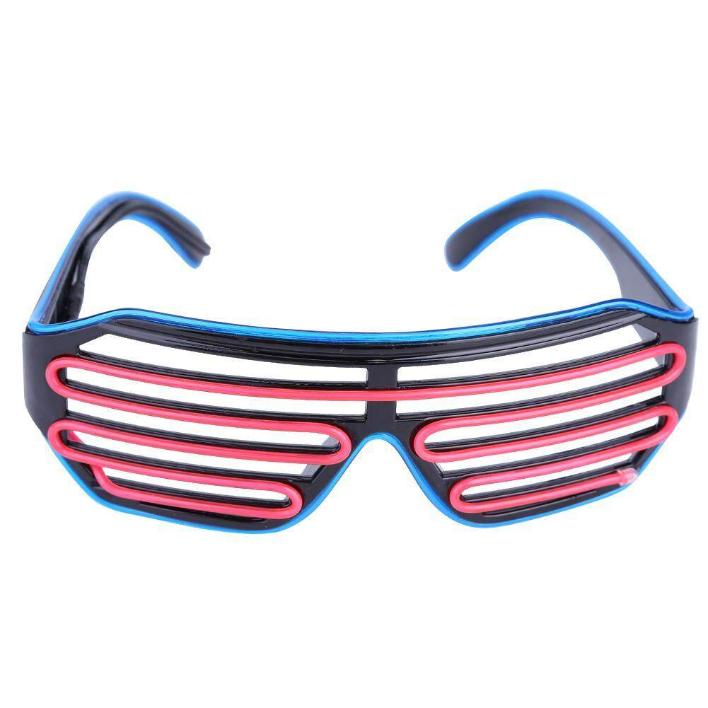 2-Color Blinds Modes El Flash Glasses Luminous Lighting Glowing Dj Glasses By Chiclife.
