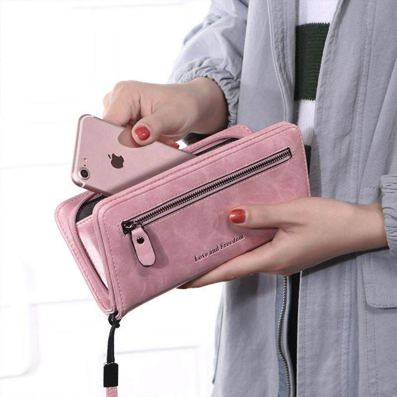 67f3efe4ed5  READY STOCK - High Quality  Sell well lady s handbag Plain colour women  wallet Removable