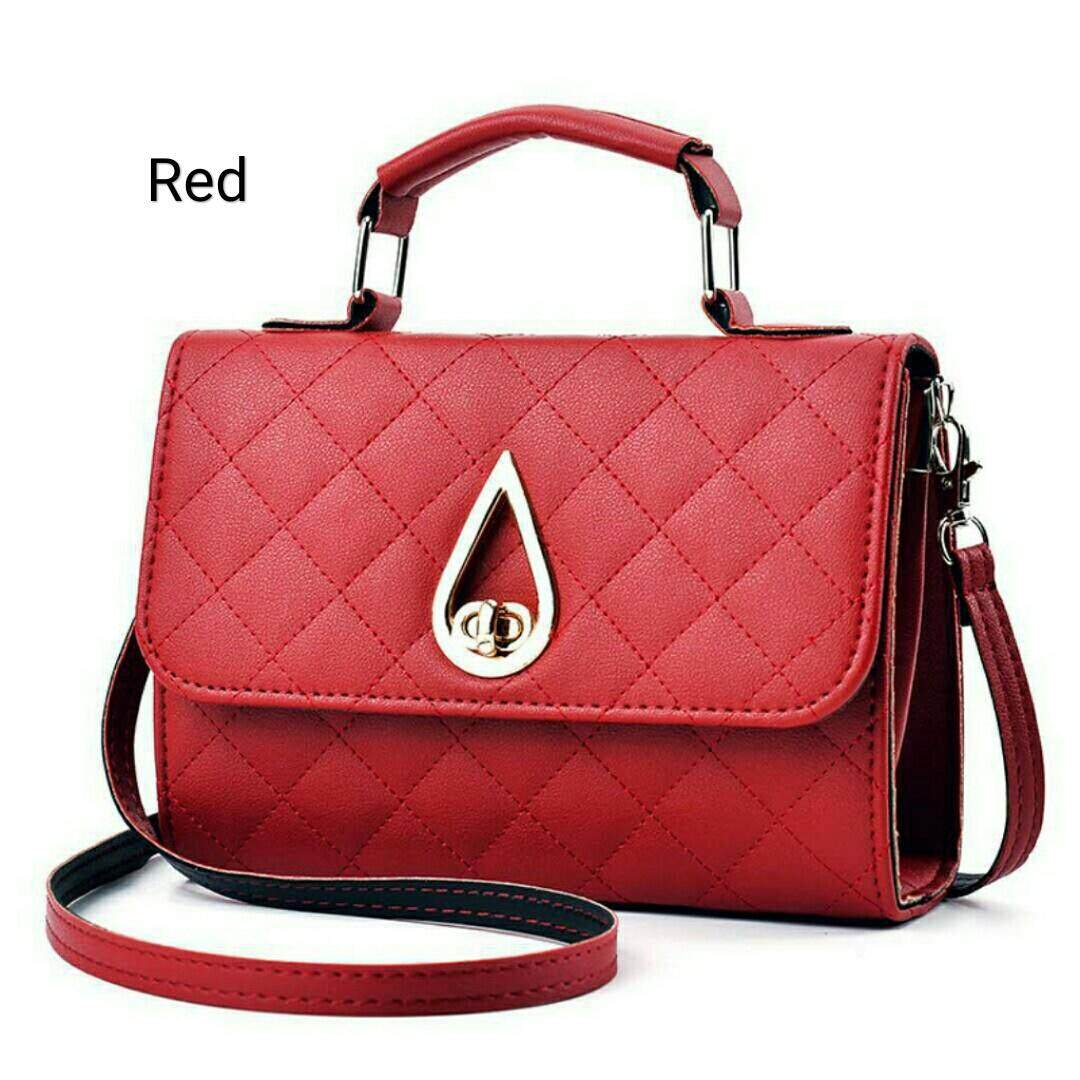 Vicria 5in1 Tas Branded Wanita - High Quality PU Leather Korean Elegant Bag Style - Maroon