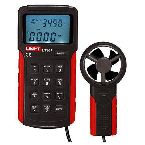 UNI-T 1 set UT361 Digital Anemometers Wind Speed Gauge Meters Air Flow Thermometer