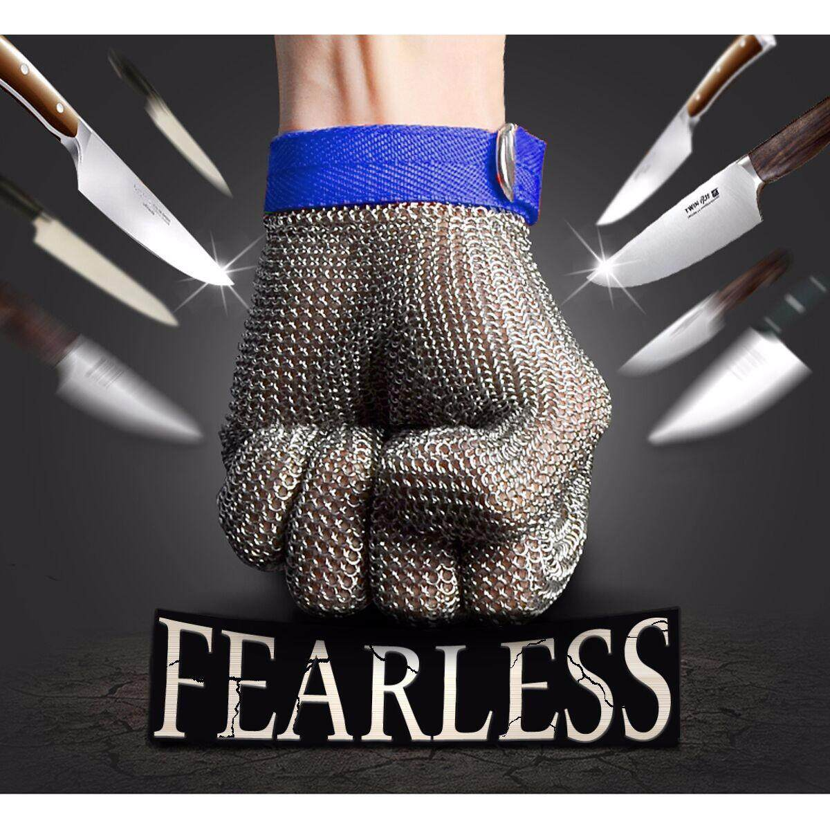 Safety Cut Proof Stab Resistant Stainless Steel Metal Mesh Butcher Glove [Size M]