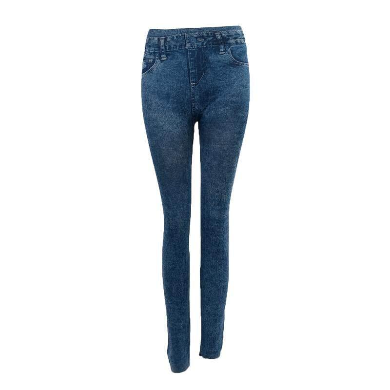 007671b4dc6 Women Denim Jeans Sexy Skinny Leggings Jeggings Tights Stretch Pants  Trousers - Blue - Pattern Style